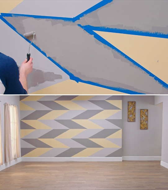 How To Paint An Accent Wall With Geometric Shapes