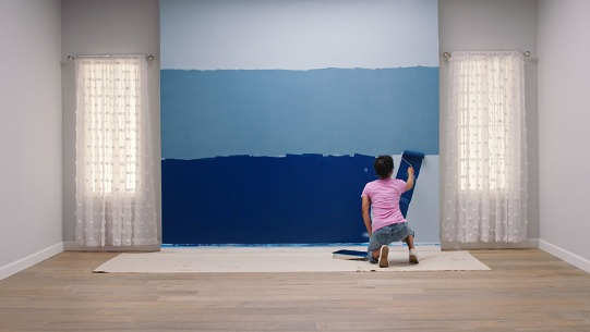 How To Paint A Beautiful Ombre Accent Wall