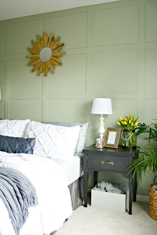 How To Create A Painted Square Accent Wall With Wood