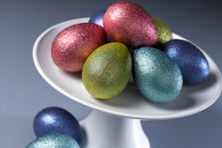 Easter egg spray paint project