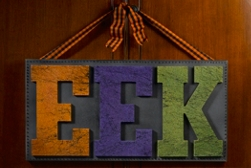 EEK! Halloween Canvas Wall Art