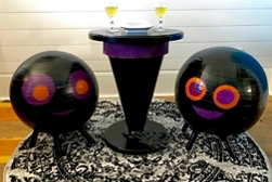 Witch's Hat Table and Spider Stools
