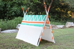 Patterned A-Frame Tent spray paint project