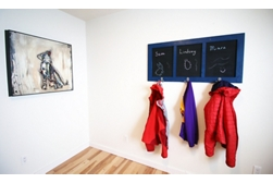 Chalkboard Coat Rack project