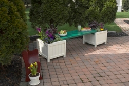 Outdoor Bench Planter