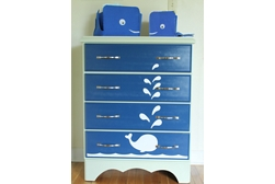Whale Painted Dresser