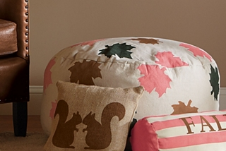 Maple Leaf Floor Pouf