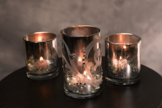 Antiqued Votive Set