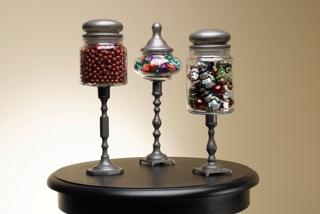 Christmas Pedestal Jars