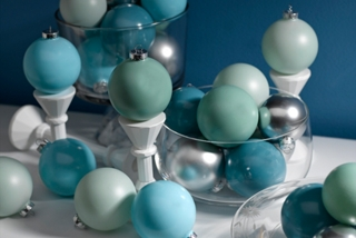 Icy Blue Ornaments