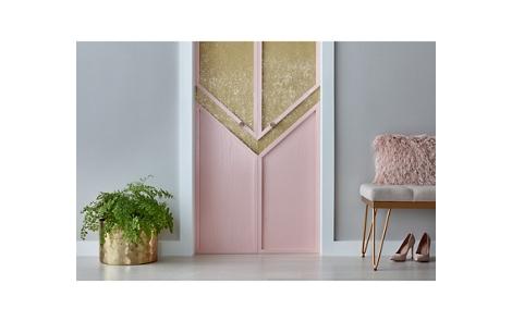 Metallic Glitter Closet Doors
