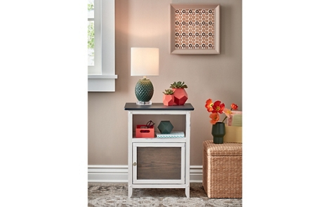 Chalky Finish Antiqued Nightstand
