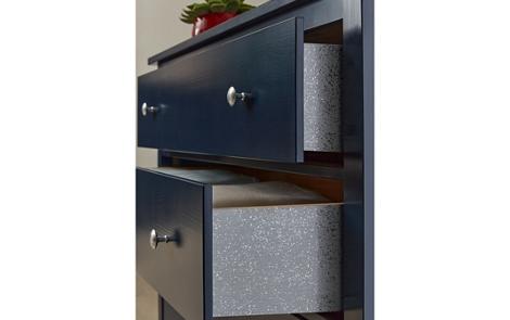 Navy and Metallic Glitter Dresser