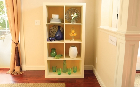 How to paint laminate shelves