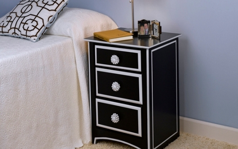 Black & White Nightstand Project