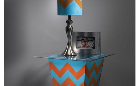 Chevron Lamp Shade Project