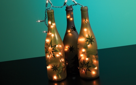 Festive Wine Bottle Lights Project
