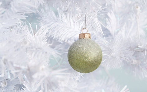 glittery christmas ornaments project