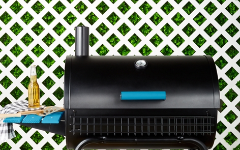 Spray painted grill