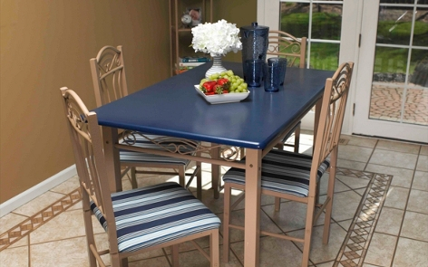 Kitchen tables and chairs furniture spray paint projects krylon chevron side table project watchthetrailerfo