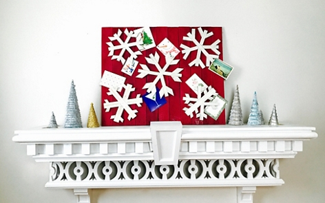 Snowflake Holiday Card Display project