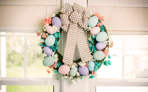 Easter egg wreath project