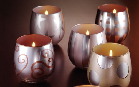 Shimmering Holiday Votives Project