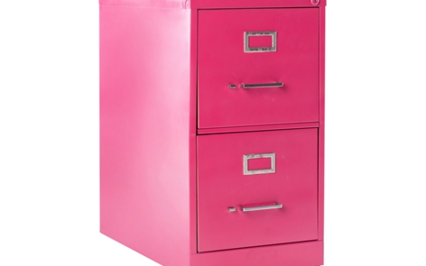 File Cabinet Spray Paint Project