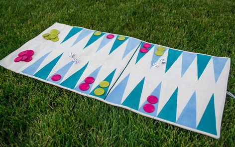 Roll-Up Travel Backgammon Spray Paint Project