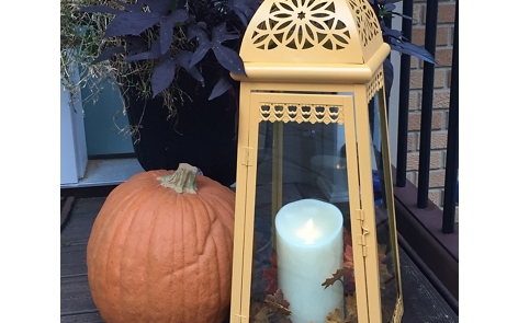 Fall Decorating Spray Paint Project