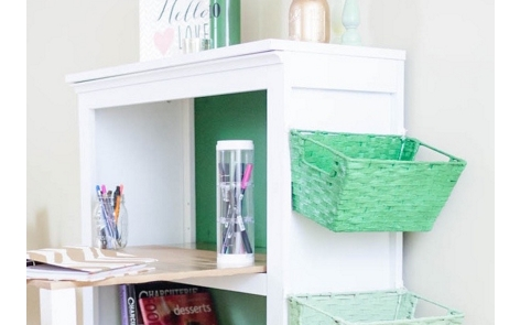 Ombre Bookshelf Desk Spray Paint Project