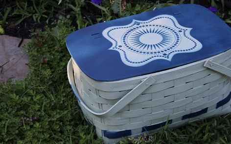 Picnic Basket Makeover Spray Paint Project