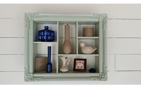 Picture Frame Shadow Box Spray Paint Project