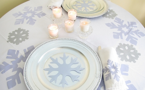 Winter Wonderland Table Settings