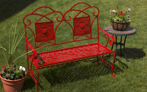 Refurbished Metal Garden Bench
