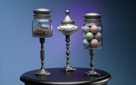 Springtime Pedestal Jar