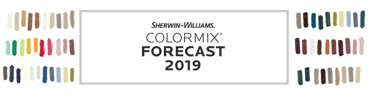 Sherwin Williams Colormix Forecast 2019 We Ve Gathered 42 Trend Colors Into
