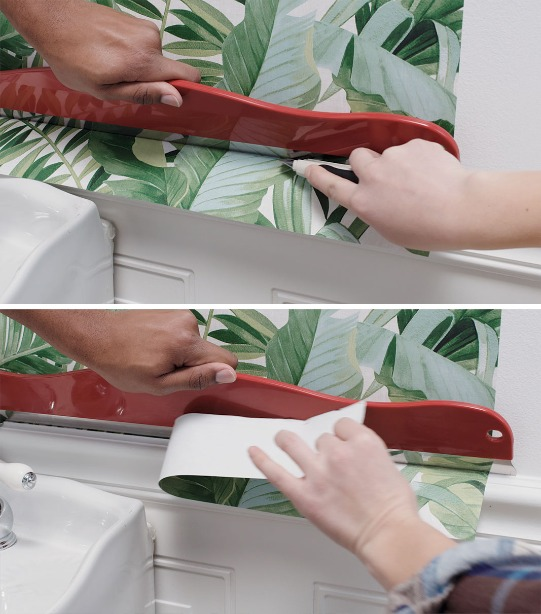 How To Update Your Bathroom With Wallpaper Sherwin Williams