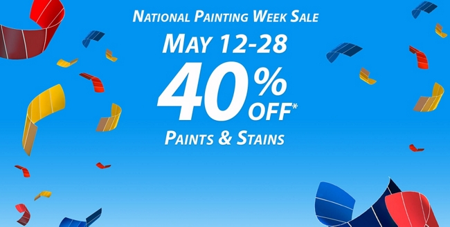 National Painting Week Sale: May 12 - 28