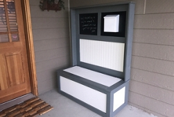 Outdoor Entryway Hutch project