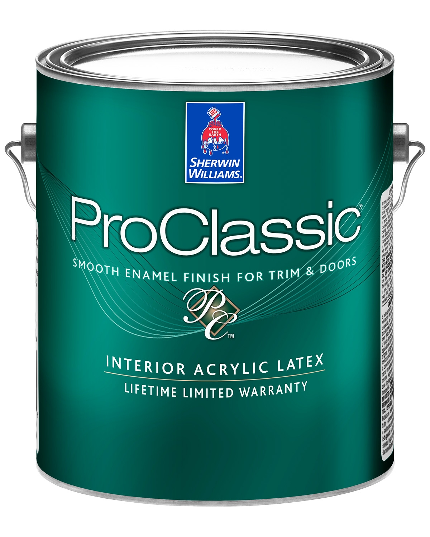 Acrylic Enamel Paint >> Proclassic Waterborne Interior Acrylic Enamel Sherwinwilliams