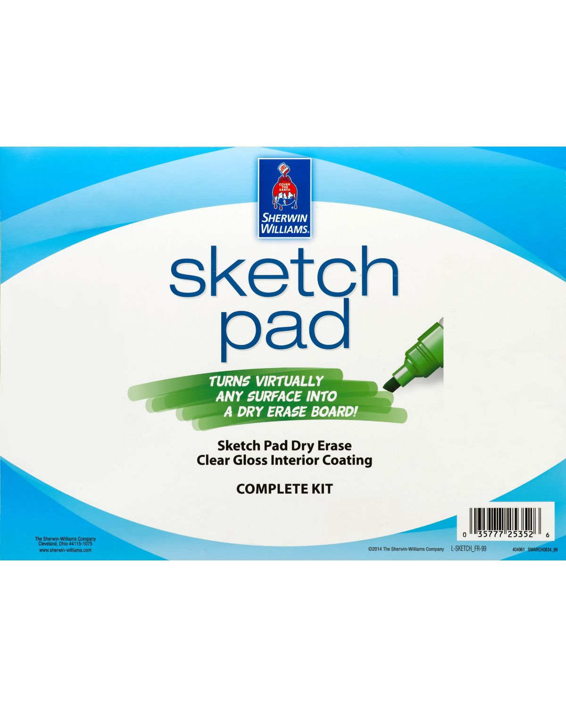 Sketch Pad Dry Erase Coating Sherwin Williams