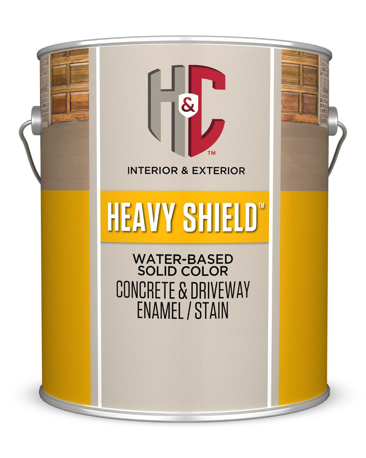 H C Heavy Shield Water Based Solid Color Concrete Driveway Enamel Stain Sherwinwilliams