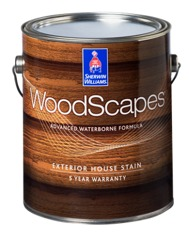 Woodscapes exterior polyurethane semi transparent house stain sherwin williams for Exterior polyurethane for decks