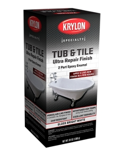 Tub Tile Ultra Repair Finish 2 Part Epoxy Enamel Krylon