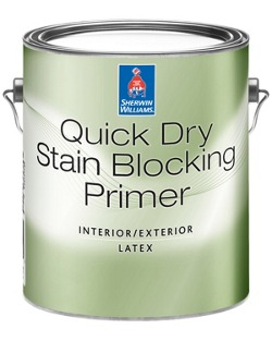 Quick Dry Interior/Exterior Stain Blocking Primer - Sherwin