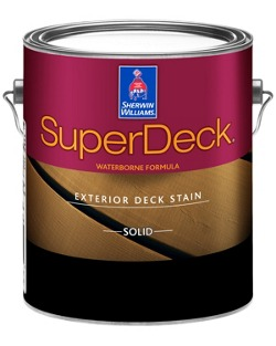 superdeck exterior waterborne solid color deck stain sherwin williams