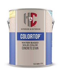 H C Colortop Water Based Solid Color Concrete Stain Homeowners Sherwin Williams