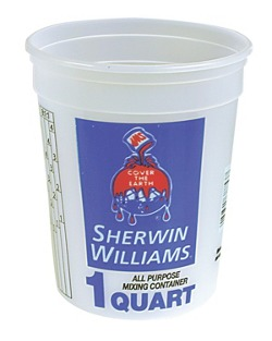 All-Purpose Mixing Conntainer with Ratios - Sherwin-Williams