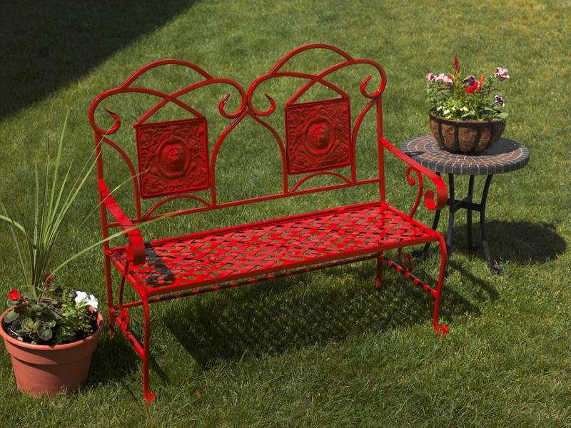 Refurbished Metal Garden Bench Project Outdoor Spray